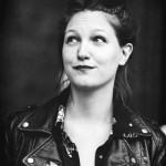 Sophie Lécuyer, photo-portrait à l'encre noire