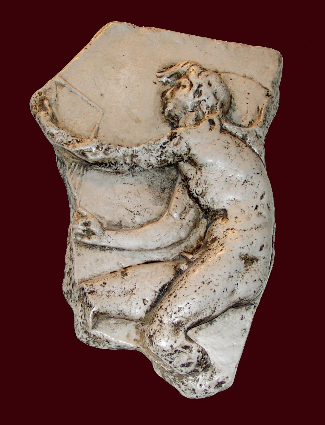 Bas-relief du Dieu Kairos de Lysippe, exemplaire de Trogir (Croatie)