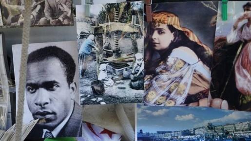 Katia Kaméli, L'œil se noie, photographie tirée du film Le roman algérien, 2015, projection vidéo, © Katia Kaméli
