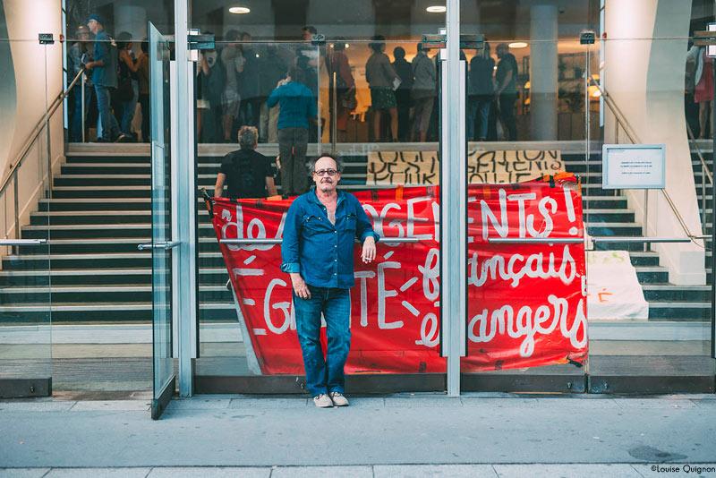 Le réalisateur Michel Toesca, au TNB de Rennes le 17 septembre