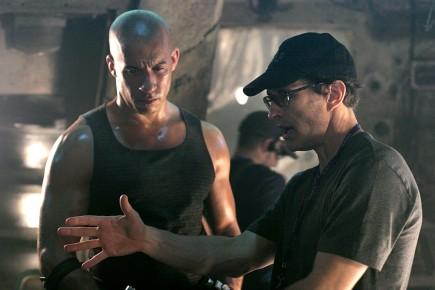 Vin Diesel et David Twohy sur le plateau