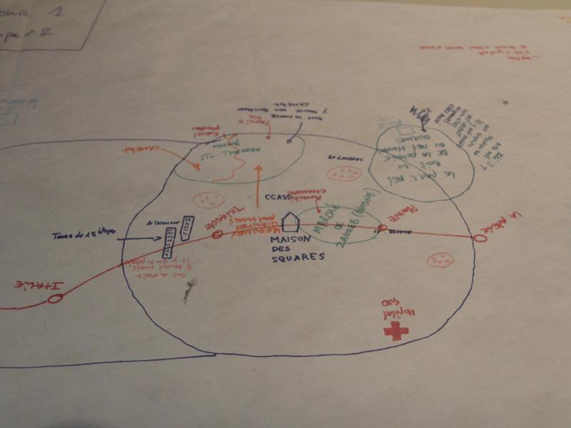 À la fin de l'exposition les enfants livrent aussi leur plan de la ville