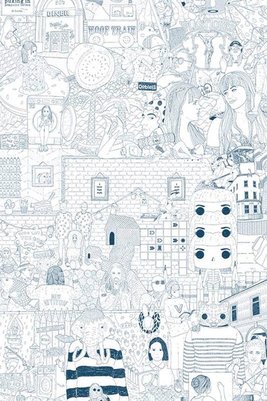 """Partie de l'oeuvre """"The infinite drawing"""" d'Elly Oldman"""